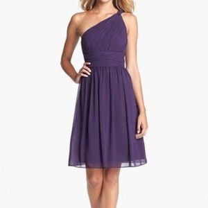 Donna Morgan Purple Bridesmaid Dress